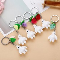Wholesale Males Silicone Doll - Hot sale Acrylic cartoon white doll male and female general key ring car gift KR117 Keychains mix order 20 pieces a lot