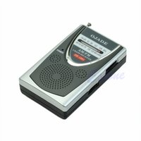 Wholesale 3v Dc Battery - Wholesale-Mini Portable Pocket Belt Clip AM FM Radio Receiver 2 Bands DC 3V