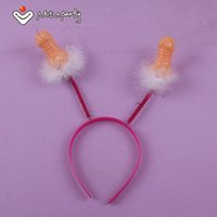 Wholesale Hen Night Headband - Wholesale-30% off for 2pcs or more Sex products Willy headband Penis Bride To Be hen night Bachelorette Party wedding favors and gifts