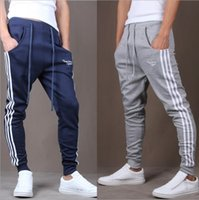 Wholesale New Comfort Pants - New explosion of men's pants slim three stripes slacks all-match Haren pants pants men running comfort