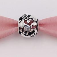 welt halskette gold großhandel-Authentische 925 Sterling Silber Perlen auf der ganzen Welt Charme passt europäischen Pandora Style Schmuck Armbänder Halskette 791718CZ