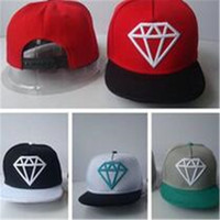 Wholesale Wholesale Fitted Kids Baseball Caps - Snapback Hats Baseball Diamond Kids Fitted Caps Sport Ball Caps Children Snapback Hats Flat Designer Hip Hop Caps Fashion Gift DHL Free