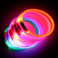 Wholesale usb flash popular resale online - Popular USB Luminous Dog Pet LED Collar Flashing Light USB Charging Collars Flash Night Safety Pet Supplies Chain Necklace ZJ0060