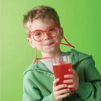 paja única al por mayor-Gafas pajas de beber historieta de la manera Loco diy lechón creativo único divertido Tubularis paja colorida para la bebida de la venta caliente 0 93ms