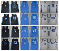 Wholesale Heels 44 - NCAA College North Carolina Tar Heels Jerseys 44 Justin Jackson 2 Joel Berry II 5 Marcus Paige 15 Vince Carter 40 Barnes with player name