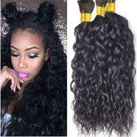 Wholesale Wavy Bulk Hair - Natural Black Natural Wave Brazilian human hair Bulk Can Be Dyed Wavy Hair Bulk 100% Brazilian Human Hair Bulk