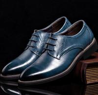 Wholesale Cut Work Dress - New Fashion Genuine leather Men Shoes Business Oxfords Men Flats Casual Men Shoes Work Loafer Size 38-44