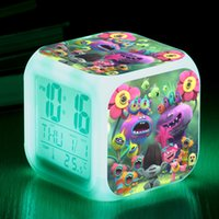 Wholesale Movies Clock - .Hot Sales 34style Trolls Movie LED light alarm clocks Trolls PVC Figures Doll Branch Toy Trolls Biggie Party Decorations toy 20pcs WD175
