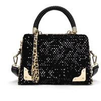 Wholesale Brand Briefcase Wholesale - Wholesale- 2016 Women shoulder bag Sequin Leopard Bags Handbags Women Famous Brands bag female handbag vintage high quality briefcase Bolsa
