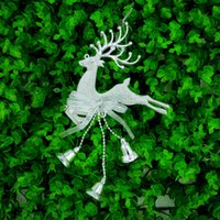 Wholesale Gold Home Accessories - deer christmas decorations tree pendant christmas wholesale christmas ornaments xmas tree decorations Home Festival Ornaments Hanging Gift