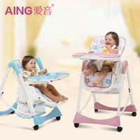 Wholesale 2017 Europe fashion multi function baby high chair eat chair seat portable folding baby dining chair baby feed chairs colors