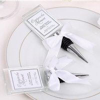 Wholesale Photo Stopper - Free Shipping wedding decoration Crystal Photo frame Wine Stopper Silver Wine stopper Wedding favors and gifts F20171139
