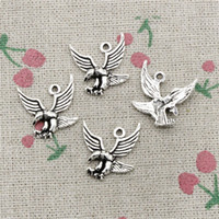 Wholesale eagle charm antique - 120pcs Charms eagle hawk 20*20mm Antique Silver Pendant Zinc Alloy Jewelry DIY Hand Made Bracelet Necklace Fitting