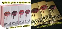 Wholesale Gold Color Charms - 49 Colors Kylie Lip Gloss Lipstick Kylie Jenner lip Kit & Lipliner lipgloss liquid lipstick matte kylie gold Charm Harmony Rosie Dazzle
