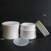 Wholesale Double Layer Cream Bottle - 15G Plastic Cream Jar,Double Layer Plastic Cosmetic Container,15g Makeup Sub-bottling,Sample Mask Canister
