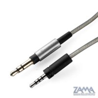 Wholesale Headphone Sennheiser - 2.5MM to 3.5MM Upgrade Silver Plated OFC audio Cable With remote microphone For Sennheiser Momentum Over Ear On Ear Headphone