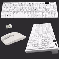 2017 O mais vendido sem fio de teclado e mouse Combo Kit de Receptor USB para PC PAD Mini Wholesale Keyboard