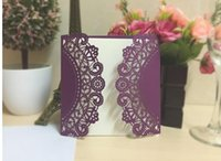 Wholesale Back Seat Folding Table - Hot selling New Champagne Floral Laser Cut Wedding Invitations Table Card Seat Card Place Card For Wedding Favors Gifts DHL Free Shipping