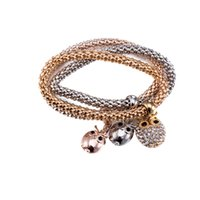 Wholesale Fashion Bracelets Online - 2017 Zinc alloy gold-plated three-piece bracelet New Fashion Hollow Gold-plated Bracelets for Christmas Present Online wholesale