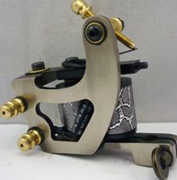 5Pcs / lot Professional Handmade Tattoo Machine 10 Wrap Coils Iron Cast Frame Custom Tattoo Gun для линейного шейдера HTM-6134