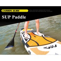 paddle board carbon fiber - Water Sports Rowing Boats AQUA MARINA CARBON fiber guide paddle for SUP stand up paddle board for surfing boards adjustable cm
