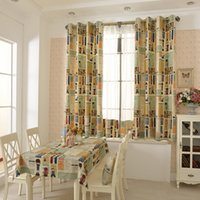 Wholesale Per Cover - 100% Cotton Canvas Valance Curtain Printing Anti Piling Curtains Kids Room Sofa Cushion Cover Window Shades Curtains Wholesale Per Meters