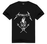 Wholesale Black Collection Clothing - Mens Metallica T Shirt Collection Funny Skull Print Justin Bieber Style Metallica Band Tee Black Summer Clothing