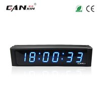 Wholesale Led Digit Clock - [Ganxin] 1Inch 6 Digit Portable Blue Led Digital Clock Remote Control Designed Led Interval Timer Research and Development Production