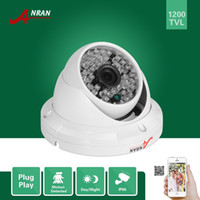 Wholesale Dome Ir Cameras - ANRAN HD CCTV 1200TVL Sony CMOS IMX138 Sensor 48 IR Outdoor Waterproof Security Dome Camera With IR-Cut