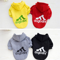 Wholesale warm dog clothes xxl - Warm Dog Clothes Small Pet Coat Jacket Outfit for Dog Puppy Spring Autumn Winter Pet Hoodies Clothing XS-XXL