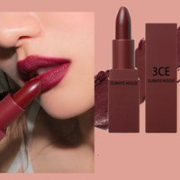 Wholesale House Outlets - 2017 3CE Eunhye House silky matte lipstick long lasting waterproof baton mate nude lipstick set labial mate Factory Outlet DHL free shipping