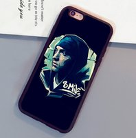 Wholesale Eminem Iphone Cover - Cool Fashion Eminem Printed Mobile Phone Cases Accessories For iPhone 6 6S Plus 7 7 Plus 5 5S 5C SE 4S Soft Rubber Back Cover