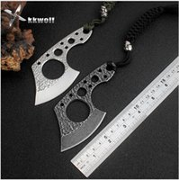 Wholesale Multi Axe - Mini Portable Survival axe outdoor Camping Survival Hunting knife EDC Multi Purpose tool Defense Karambit ax Free ship