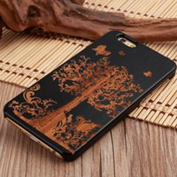 Wholesale wood case for iphone SE S S SPLUS plus PC hard blank solid real nature wooden lighter case smartphone cell mobile