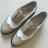 Wholesale Men S Open Toe Shoes - Wholesale- FOOT POLE BEAUTY Brand shoes 21 color Genuine Leather Handmade oxford shoes for women new 2017 Spring and autumn women 's shoes