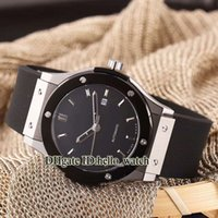Wholesale Cheap Wood Rounds - Cheap New Luxury Brand Sport Mens Wach Automatic Machinery High Quality Black Dial Rubber Strap Sapphire Glass Gents Watch+Gift Woods Box