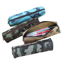 Wholesale camouflage pencil case - Wholesale-2016 For Boys and Girls School Supplies New Camouflage Pencil Case Pencil Bag Cosmetic Makeup Bag Zipper Pouch Purse 4Colors