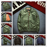 ASSISTENCIAS 2017 lala ikai Chaqueta Ma1 Style Army Green Military Motocicleta Ma1 Flight Bomber Jacket Pilot Air Force 6xl Chaqueta