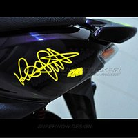 Wholesale Wholesale Windshields Water - Hot sale Motorcycle sticker Ymh Rossi signed water-resistant decals Reflective stickers motorcycle sticker personalized decals free shipping