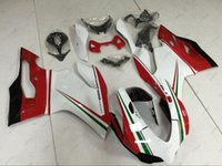 1199 verkleidungen großhandel-Full Body Kits 1199S 13 14 Body Kits 889 2014 Weiß Rot Verkleidung Kits für DUCATI 1199 12 13 2012 - 2014