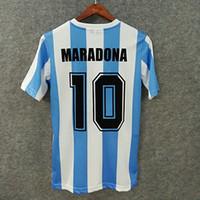 ff9b4a580bb Classic 1986 argentina retro soccer jerseys custom name number MARADONA 10  enrique 12 Batista 2 3D Velvet font football shirts AAA quality