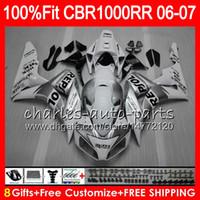 weißer repsol-verkleidungssatz großhandel-Einspritzkörper für HONDA CBR 1000RR CBR1000 RR 06 07 Karosserie Repsol weiß 78HM13 CBR1000RR 06 07 CBR 1000 RR 2006 2007 Verkleidungssatz 100% Fit