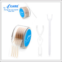 Wholesale Double Side Adhesive Eyelid Tape - Wholesale-1 Roll = 600pcs ACARE Narrow Eyelid Sticker Tape Technical Eye Tapes Invisible Fiber Double Side Adhesive Eyelid Stickers