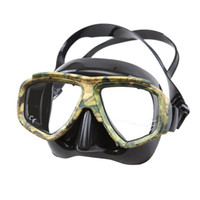 Wholesale Optical Swimming Goggle - Wholesale- Disguise Camouflage Scuba Dive Mask Myopic Optical Lens Snorkeling Gear Spearfishing Swim Goggles Diving Swimming Mask