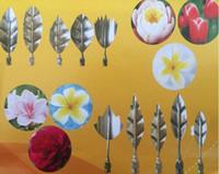 molde de flores de metal al por mayor-10 UNIDS 3D Jelly Art Tools Gurbias Cake Jello Arte Gelatina Moldes Flor Pudding Molde Con 1 UNID Jeringa Set Rusia Tulip Boquillas