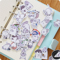 Vente en gros- 40pcs / Lot Nouveau Kawaii Chubby Rabbit Series Pet Sticker Pack Vente chaude Deco Emballage Autocollants École Fournitures de bureau
