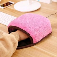 Wholesale Laptop Hand Warmer - Hot Home Office Winter Plush Warm Mouse Pad Laptop Wrist Rest Pad USB Warm Hand Mice Pad Comfort Wrist Support Mat Free Shipping