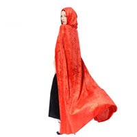 Wholesale Purple Wizard - Halloween cloak cosplay make - up dress costume witch cloak witch wizard cloak witch dress free shipping