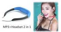 Wholesale Sport Watch For Diving Swimming - Wholesale- KYK-168 IPX8 Waterproof 8GB Underwater Sport MP3 Music Player Neckband Stereo Earphone Audio Headset with FM for Diving Swimming