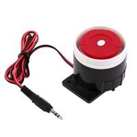 luz estroboscópica de alarma al por mayor-2017 Wired Alarm Strobe Sound Sirena Home Security Protect Sistema de Luz Intermitente 120dB DC 12V Nuevo